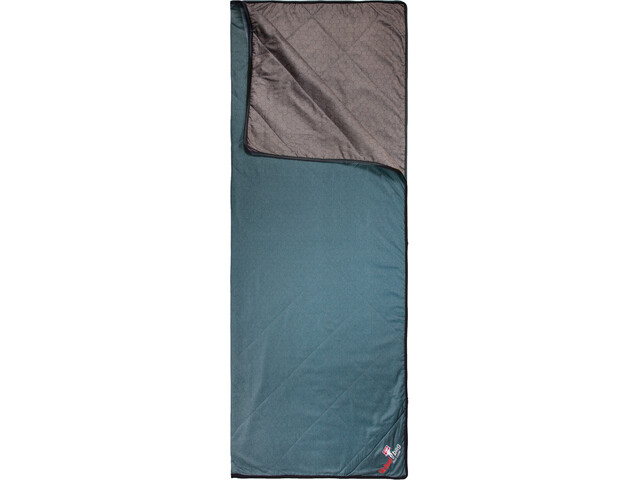 Grüezi-Bag WellhealthBlanket Wool Home Sleeping Bag chocolate/smoky blue